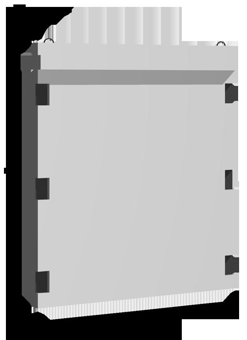 Диафрагмы двухконсольные глухие серия ИИ-04Н-5К