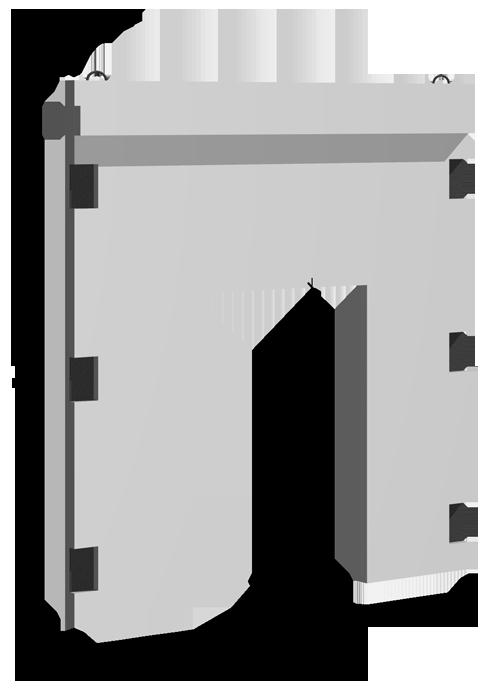 Диафрагмы двухконсольные с проемом В=1220 м серия ИИ-04Н-5К