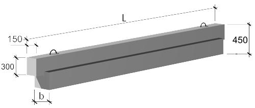 Ригели связевого каркаса высотой 450 мм шифр 84-2953/1