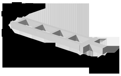 Колонны среднего ряда