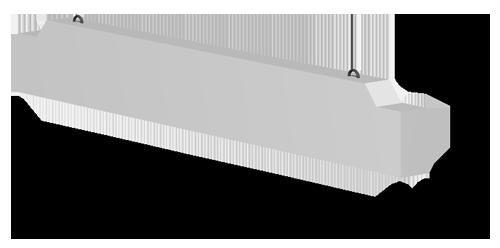Прогоны прямоугольного сечения 1.225-2 выпуск 11