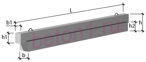 Ригеля связевого каркаса высотой 450 мм по серии 1.020-1/87 в.3-1